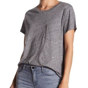NWT Madewell Heather Pewter Crew Neck Shirt